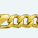 Cadena latón chapada en oro BARBADA PROGRAMADA Ancla (1X3)