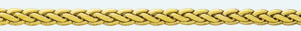 Cadena latón chapada en oro BT1