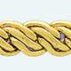 Cadena latón chapada en oro BT3