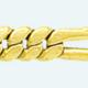 Cadena latón chapada en oro BARBADA PROGRAMADA Sin Diamantar (1X3)