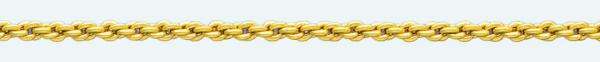 Cadena latón chapada en oro CRB