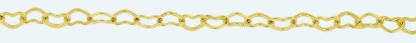 Cadena latón chapada en oro COR