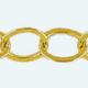 Cadena latón chapada en oro OVAL