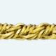 Cadena latón chapada en oro COLA ZORRO Retorcida