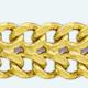 Cadena latón chapada en oro BARBADA Doble
