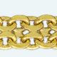 Cadena latón chapada en oro FORZADA Doble