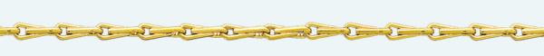Cadena latón chapada en oro EPI
