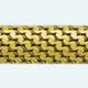 Cadena latón chapada en oro FAN
