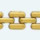 Cadena latón chapada en oro GA