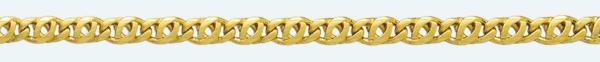 Cadena latón chapada en oro OPA