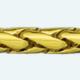 Cadena latón chapada en oro PM