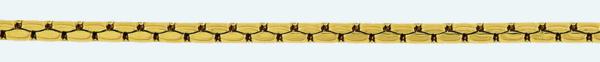Cadena latón chapada en oro FORZADA Lapidada 4 caras