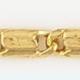 Cadena latón chapada en oro ANCLA Oval