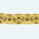 Cadena latón chapada en oro FORZADA Diamantada