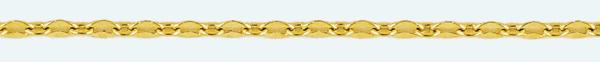 Cadena latón chapada en oro FORZADA Programada Estampada (.x.)