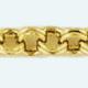 Cadena latón chapada en oro FORZADA Redonda doble