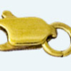 LOBSTER Brass gold plated finding No.1  (5x13mm)         (Weight per piece)