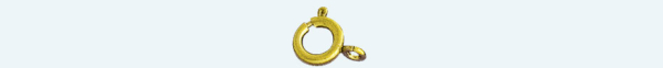 SPRING RING Brass gold plated finding 6mm                               (Weight per piece)